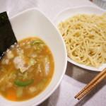 電子レンジで作る、野菜たっぷりつけ麺